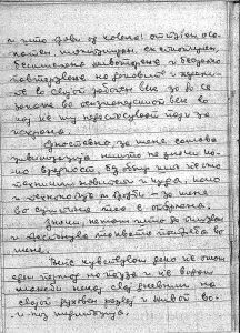 Факсимил од последната страница од Дневникот на Сидо